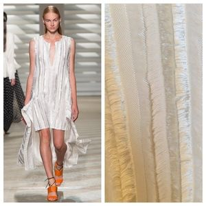 Thakoon White High Low Silk Blend Runway Dress